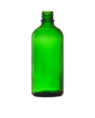 Bottle 100 ml, Glass, DIN 18